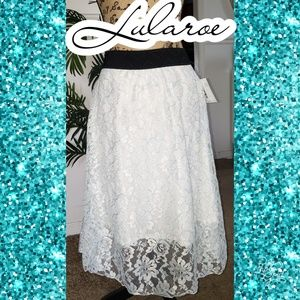 Xxs Lularoe lace white skirt